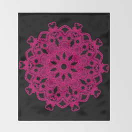 Mandala Project 229 | Hot Pink Throw Blanket