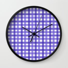 Violet Picnic Cloth Pattern Wall Clock