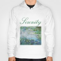 monet Hoodies featuring 1906 Waterlilies oil on canvas. Claude Monet. by ArtsCollection