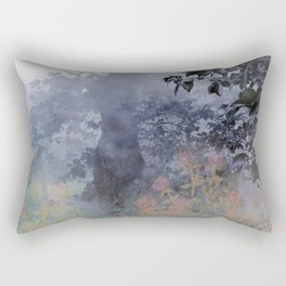 magical forest with ghostly flowers Rectangular Pillow