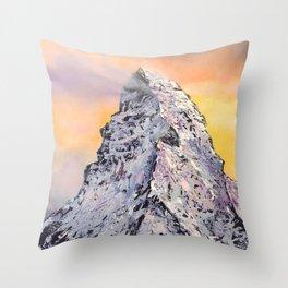 Matterhorn. Switzerland Throw Pillow