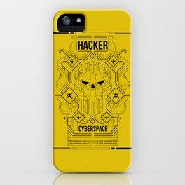 Hacker skull circuit iPhone Case