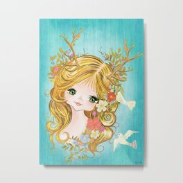 Lovely Lady Of The Woodlands Metal Print
