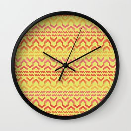 AZTEC pattern 1-1 Wall Clock