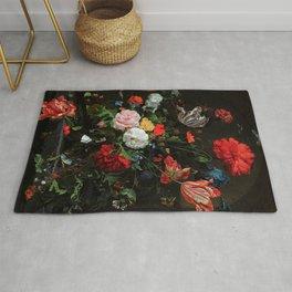 Still Life With Flowers By Jan Davidsz. de Heem Rug
