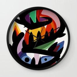 Depemiro Abstract Colorful Art Wall Clock