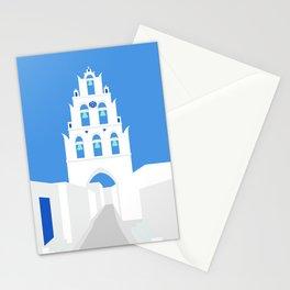 Bell Tower, Megalochori Village, Santorini, Greece Stationery Cards