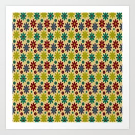 Granny Flowers Art Print