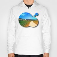 hiking Hoodies featuring Another lonely hiking trail by Patrick Jobst