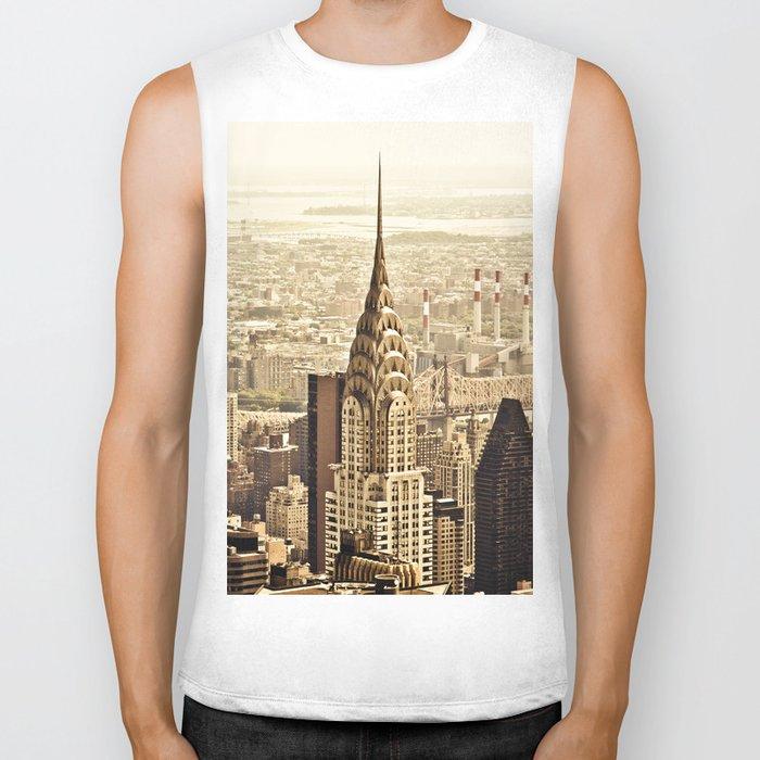 New York City Skyline Biker Tank