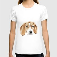 beagle T-shirts featuring beagle by chocomocacino