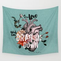 coconutwishes Wall Tapestries featuring Drag Me Down by Coconut Wishes