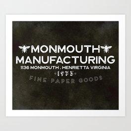 Monmouth Manufacturing Art Print