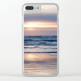 Beach Glow Soothes Soul Clear iPhone Case