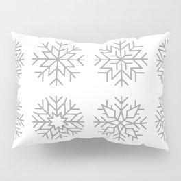 minimalist snow flakes Pillow Sham