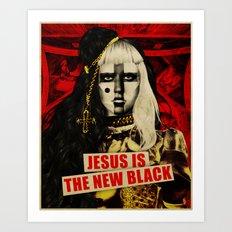 Jesus Is The New Black Art Print
