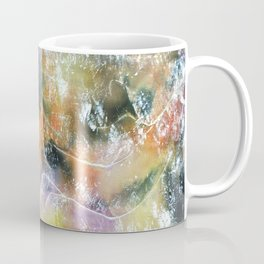 Multi Colored Silk Scarf Coffee Mug