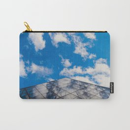 Cloud reflection in the Louvre Pyramid Carry-All Pouch