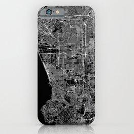 Los Angeles Black Map iPhone Case