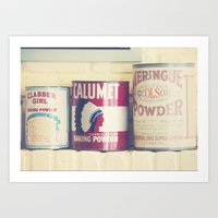 baking Art Prints featuring Baking Tins by maybesparrowphotography