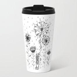 Bunny and flowers Travel Mug