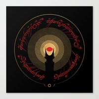 the lord of the rings Canvas Prints featuring The Lord of the Rings by Ian Wilding