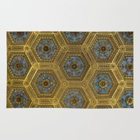 honeycomb Area & Throw Rugs featuring Honeycomb by Melinda Zoephel