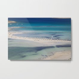 balos beach,greece Metal Print
