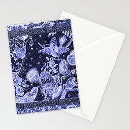 Violet Night Nature Scene Stationery Cards