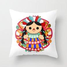 Maria 6 (Mexican Doll) Throw Pillow