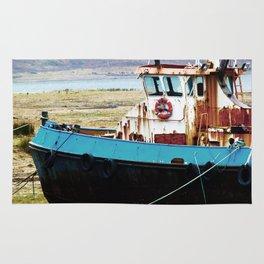 Rusted ship Rug