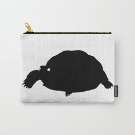 Turtle Black Silhouette Animal Pet Cool Style Carry-All Pouch