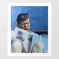 jfk Art Prints featuring JFK by aapshop