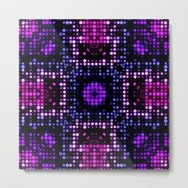 Modern Funky Colorful Polka Dots Pattern SB78 Metal Print