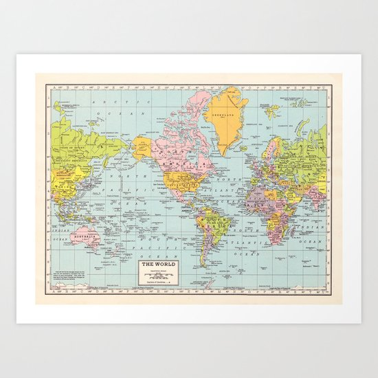 World Map by catherineholcombe