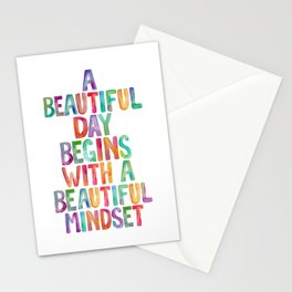 A Beautiful Day Begins With a Beautiful Mindset Stationery Cards
