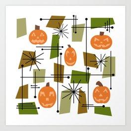 Halloween Mid Century Modern Kunstdrucke