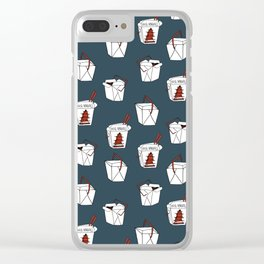 Rice takeout chinese food container new york style chinese food pattern Clear iPhone Case