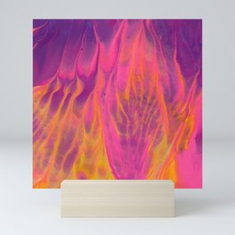Candy Coated Gold Fire Abstract Painting Mini Art Print