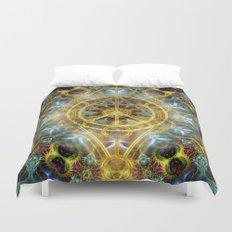 Sacred Geometry Fractal Mandala Duvet Cover