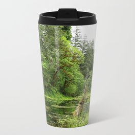 Hoh Rainforest Scene Metal Travel Mug