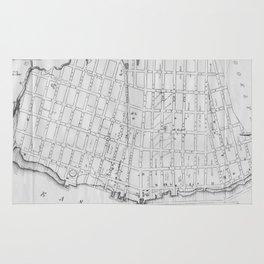 Vintage Map of Williamsburg Brooklyn (1827) Rug