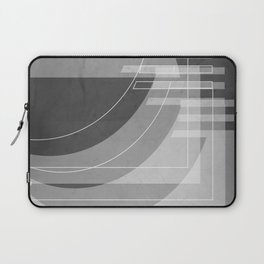 Stairs Heavenward in Shades of Charcoal Gray Laptop Sleeve