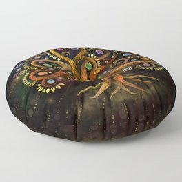 Tree of Life - Yggdrasil - Rainbow Swirl Floor Pillow