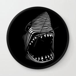 Great Shark Lines Wall Clock