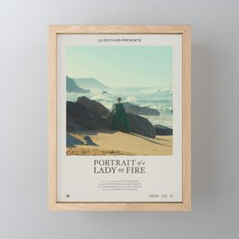 Portrait of a Lady on Fire (2019) Minimalist Poster Framed Mini Art Print
