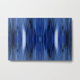 Indigo rain Metal Print