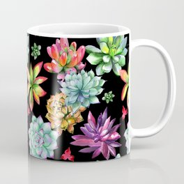Colorful Succulents Coffee Mug