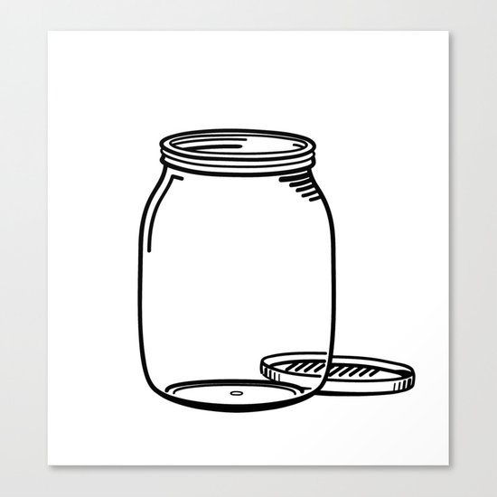 The Empty Jar Canvas Print