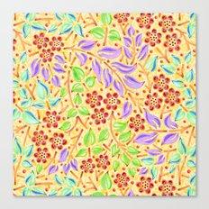 Sunshine Filigree Floral Canvas Print